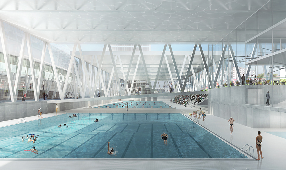 Centre culturel et sportif malley mikou studio for Centre sportif cote des neiges piscine